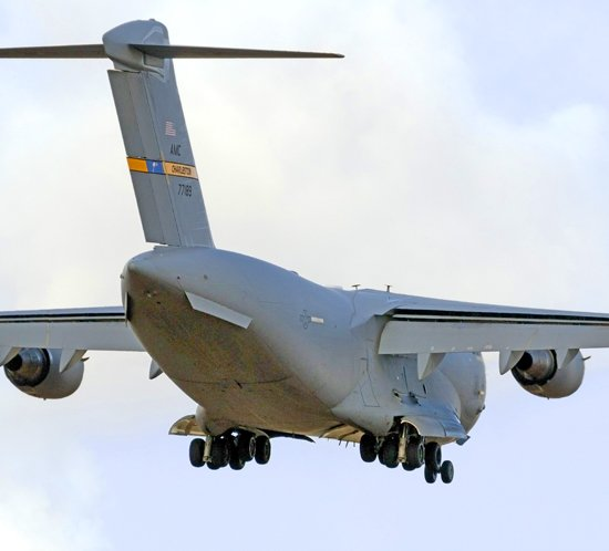 United States Air Force uses FTS 830 approach lighting system at Kadena Air Base Okinawa, Japan