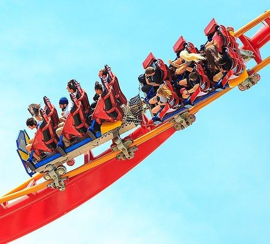 FTS 370d lights the Top Thrill Dragster at Cedar Point Amusement Park in Sandusky, OH