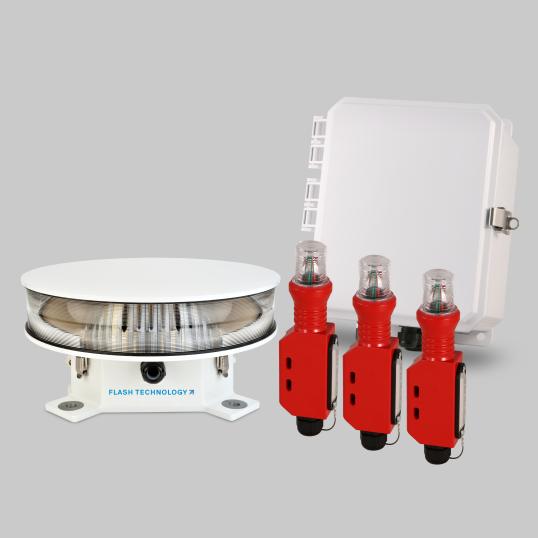 Serie Vanguard Red FTS 371 SMART | Controlador de luz roja compatible con FAA para torres de tipo A0 - A1
