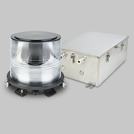 FT 736 White Omnidirectional Acquisition heliport Beacon