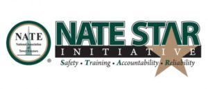 NATE STAR (safety, training, accountability and reliability) Logo