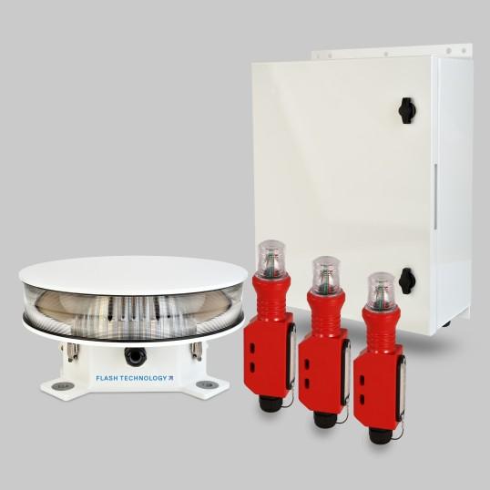 نظام إضاءة برج FTS 370r Vanguard II Red LED FAA