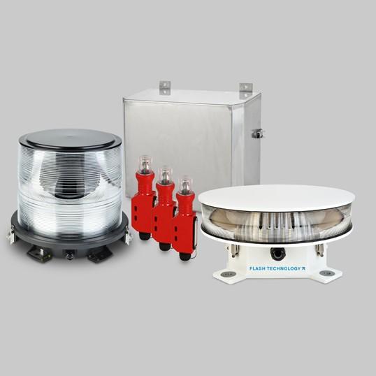 FTB 311L LED dual y xenón L-864 / L-865 Sistema de iluminación de obstrucción de intensidad media con Eagle