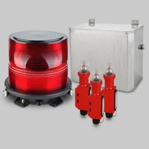FTB 314 Medium Intensity Red L-864 Xenon Tower Obstruction Light