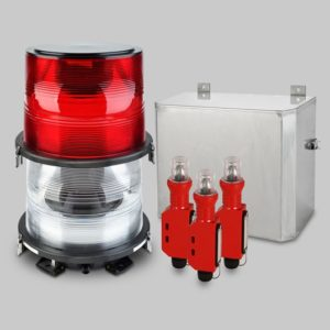 FTB 324 Dual Medium Intensity L-864/L-865 Xenon Obstruction Lighting System