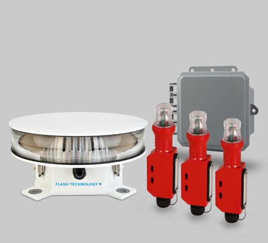 FTS 371 Vanguard Red LED tower lighting