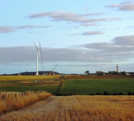 wind farm construction lighting
