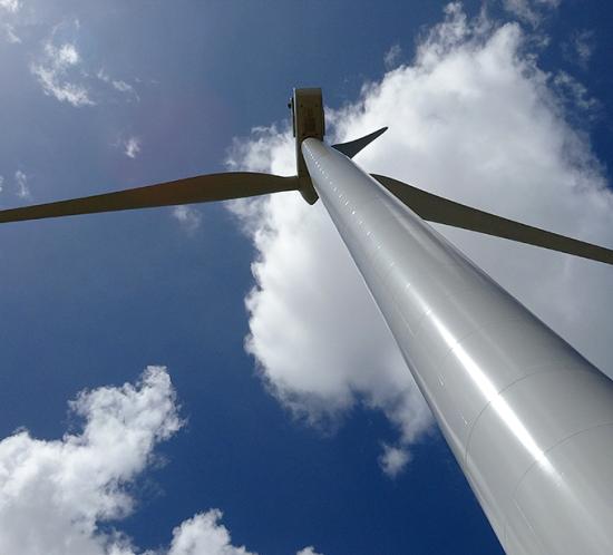 Iluminación de la turbina eólica Parque Eólico Penonomé