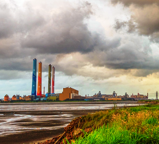 The Taichung Power Plant employs FTB 204 high intensity white utility tower lighting systems