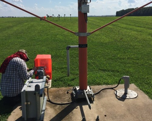 Airport approach lighting repair at Ft. Campbell, KY