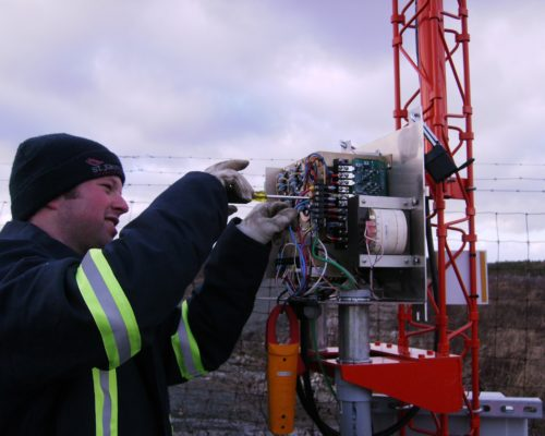 Airport lighting maintenance in St Johns, Newfoundland
