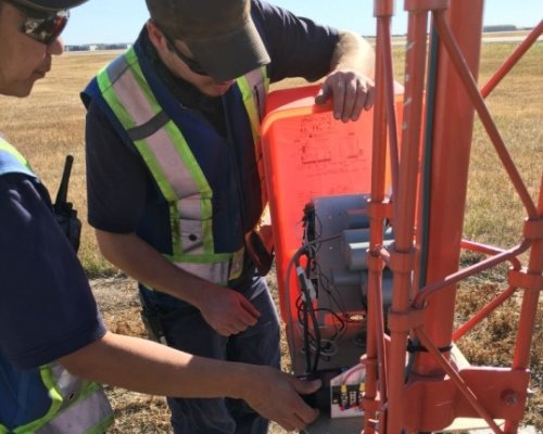 Airport approach light hands-on training in Regina, SK, Canada