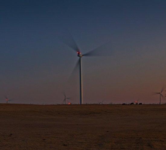 Thunder Ranch suministra la energía para elaborar Budweiser y está iluminado por la granja eólica FTS 370i