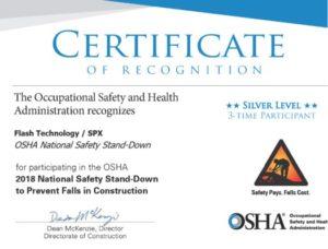 OSHA National Safety Stand-down se esfuerza por evitar caídas en las industrias relacionadas con la construcción.
