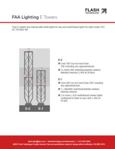 Diagram depicting FAA lighting for E-type towers under AC 70/7460-1L