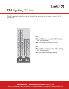 Diagram depicting FAA lighting for D-type towers under AC 70/7460-1L