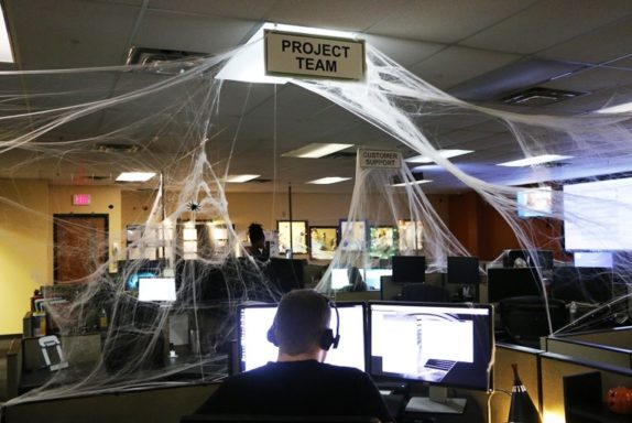 Dressed up for Halloween, the NOC is key to monitoring tower lights, as mandated by the FCC.