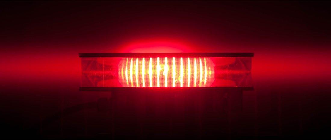 Vanguard Medium red beacon beam pattern