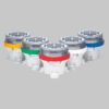 A650 barricade lights and runway edge lights come in yellow, green, red, white and blue color options