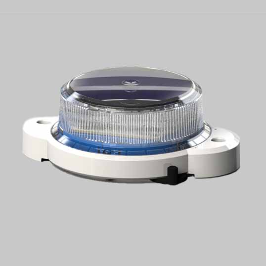 The blue OL2A solar hazard light is perfect for railyard safety lights