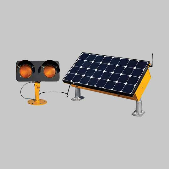 Solar elevated runway guard lights (ERGL) are practical, easy to install, resilient and self-contained