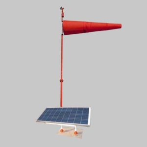 Solar lighted FAA and ICAO compliant airport windsock