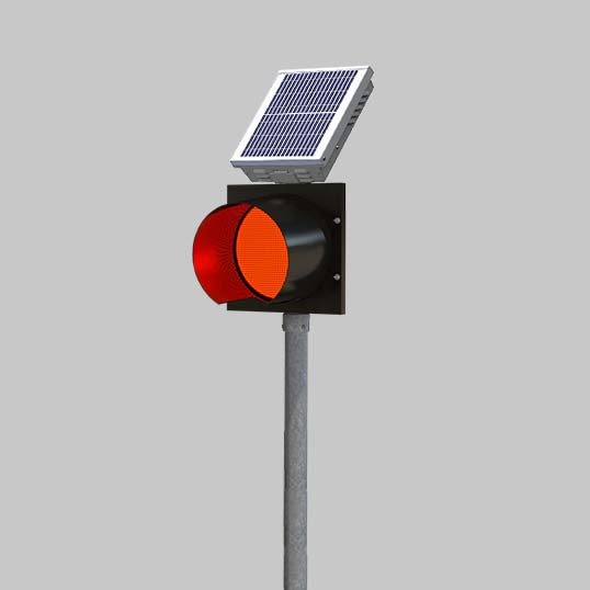 A road hold position light with red indicator is a stop beacon