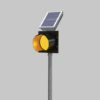 A road hold position light with yelllow indicator is a warning beacon