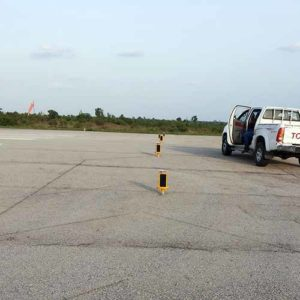 A704 runway lights installed at Minna AIrport in Niger, Nigeria
