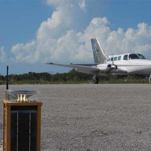 A704 solar runway light at Spring Point Airport in the Bahamas