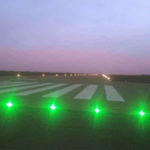 Runway threshold lighting at the Sadiq Abubakar III International Airport in Sokoto, Nigeria