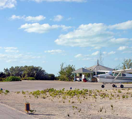 An A704 solar runway light installed at a Bahamas airport
