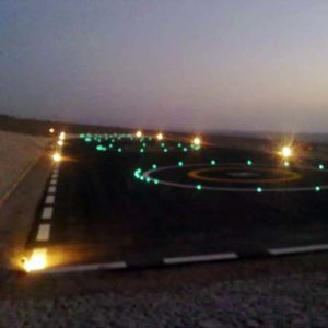 Military helipad lighting in Jordan