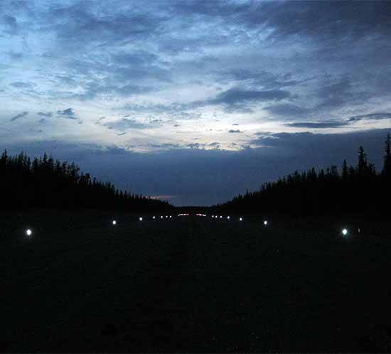 Tsay Keh Dene runway lighting