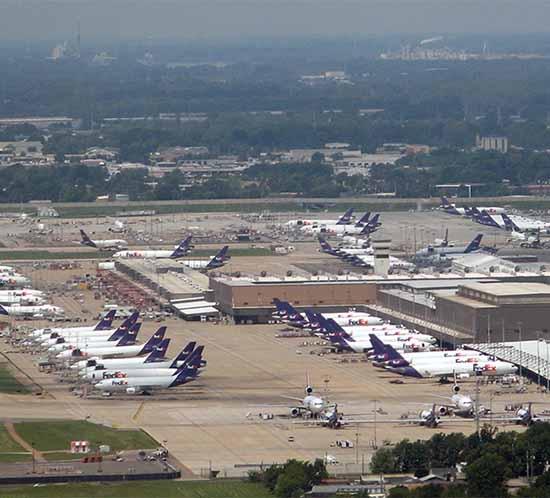 Memphis airport is a fedex superhub