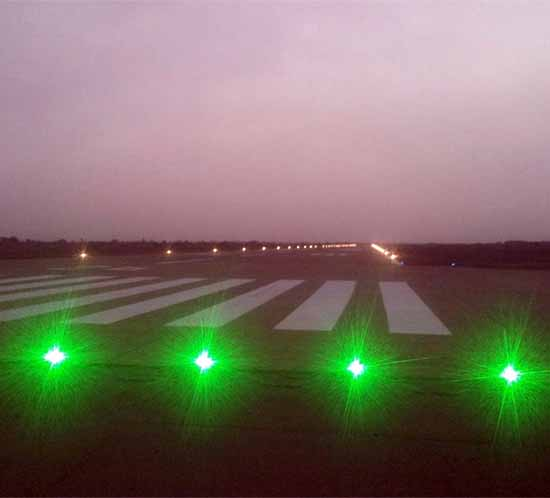 Airport runway lights in Nigeria Africa