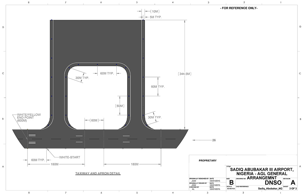 Taxiway and apron lighting design