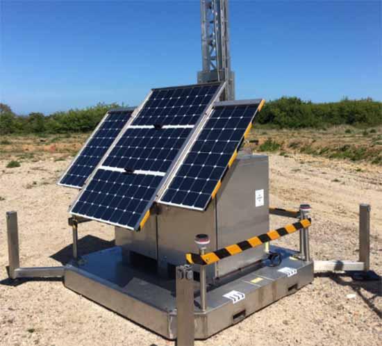 Sunstone IP CCTV with solar obstruction lights
