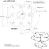 Universal mounting bracket footprint for wind turbine lights
