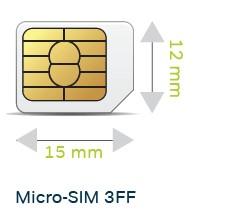 3FF micro SIM card