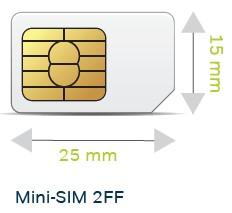 2FF mini SIM card