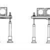 PAPI 2-light units and PAPI 3-light units diagram