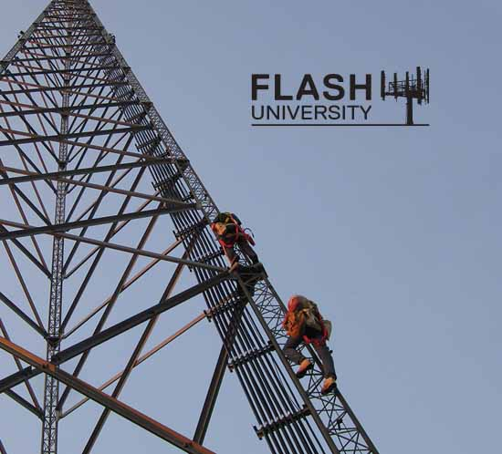 Flash University tower climbers