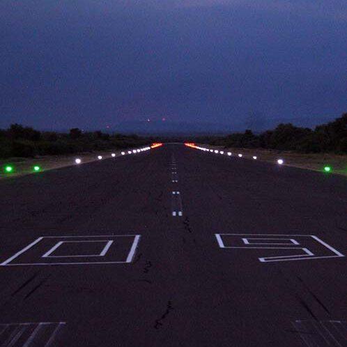 Runway lights at Eskom