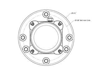 FTS 350i bolt hole circle