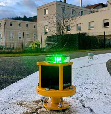 A704-VL helipad light installed in France