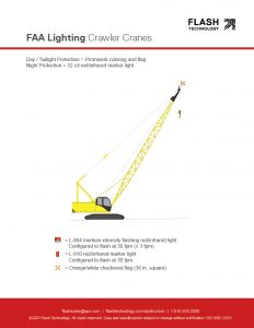 FAA lighting for temporary structures: crawler cranes