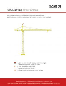 FAA lighting for temporary structures: tower cranes