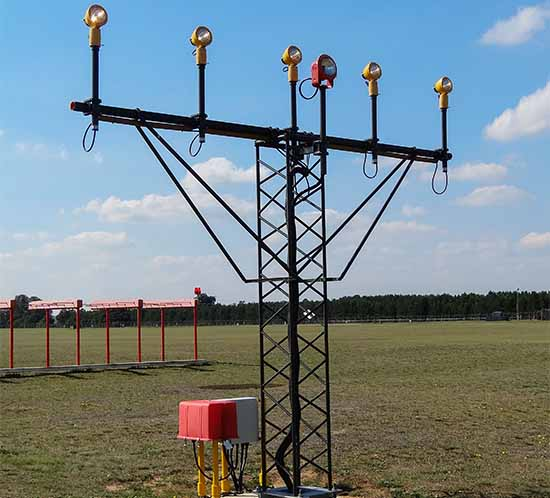 FTS 8021 airport approach lighting system at RAF Lakenheath